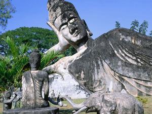 Vườn tượng Phật ở Viên Chăn