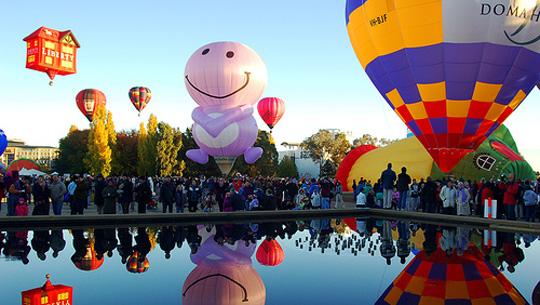 Lễ hội Khinh khí cầu từng diễn ra trên thế giới thường thu hút rất đông du khách tham dự