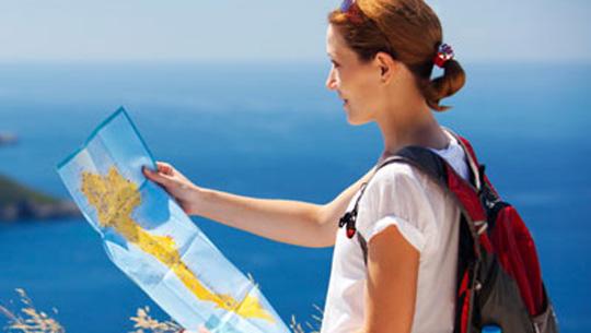 Đem theo bản đồ khi đi du lịch