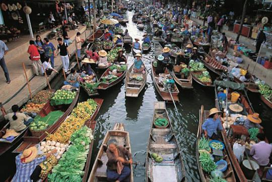 Chợ nổi ở Thái Lan - iVIVU.com
