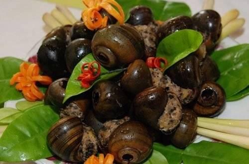 Ẩm thực Đồng Tháp - Ốc treo giàn bếp - iVIVU.com