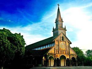 Description: Du lịch Kon Tum - Nhà thờ Chánh tòa - iVIVU.com