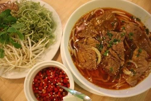 Ẩm thực Bạc Liêu - bún bò cay - iVIVU.com