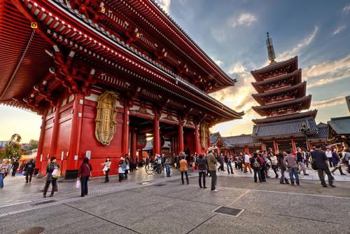 Du lịch Tokyo - Chùa Phật giáo Sensoji - iVIVU.com