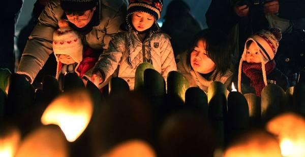 Ảnh minh họa: Lễ tưởng niệm trận động đất Đại Hanshin vào năm 1995