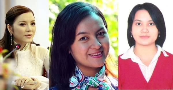 3 ứng cử viên cho chức vụ Đại sứ du lịch Việt Nam (từ trái sang: Lý Nhã Kỳ, Huỳnh Thị Ngọc Hân, Đỗ Thị Hồng Thuận)
