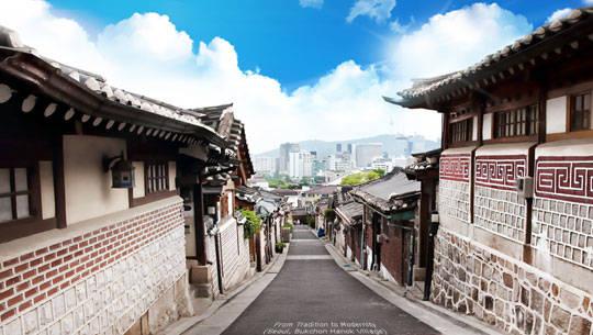 Du lịch Seoul - Hàn Quốc - làng Hanok Bukchon - iVIVU.com