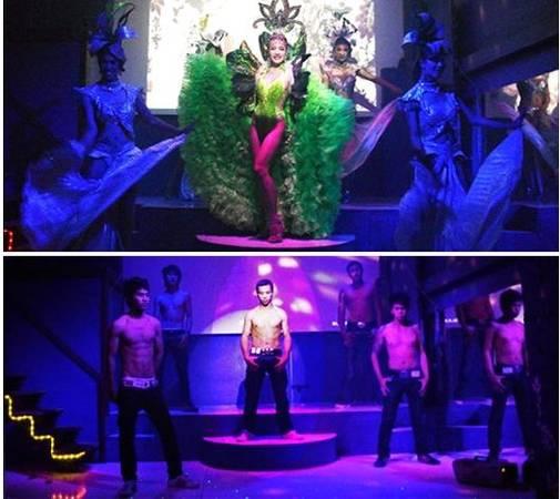 Cuộc sống về đêm trong các câu lạc bộ, hộp đêm ở Chiang Mai.