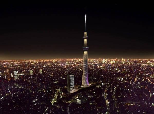 Tokyo Skytree về đêm