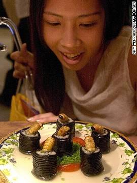 Những món ăn côn trùng nổi tiếng thế giới