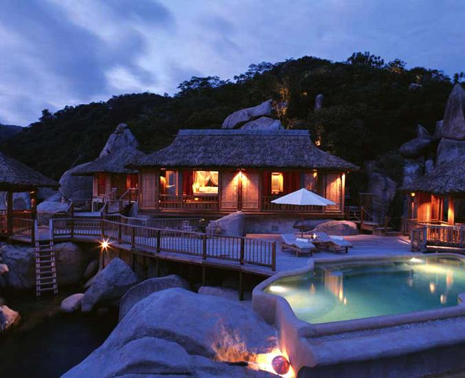 Khu nghỉ dưỡng Six Senses Ninh Vân Bay Nha Trang về đêm