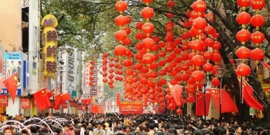 Beijing Lu, phố đi bộ, mua sắm nổi tiếng của Quảng Châu.
