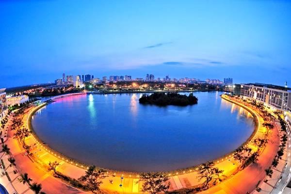 Một góc khu đô thị Phú Mỹ Hưng - nơi diễn ra nhiều sự kiện hấp dẫn trong thời gian gần đây.