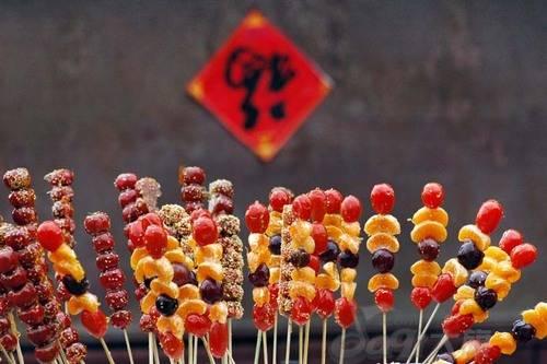 Những viên kẹo ngọt được bày bán khắp nơi tại Bắc Kinh.