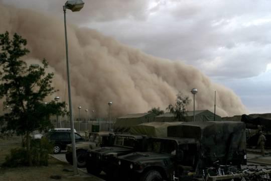 5. Haboob  Haboob là một dạng bão bụi dữ dội xảy ra ở các vùng khô cằn trên thế giới.