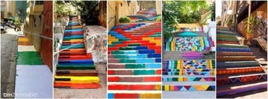 Ngay lập tức mọi người dân trong khu vực thậm chí là ở cả những vùng khác đã cùng nhau trang trí lại cầu thang bộ của họ khiến nó lại rực rỡ trở lại.