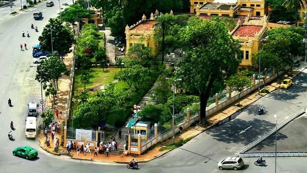 Bảo tàng nhìn từ trên cao. Ảnh: tourism.danang.vn