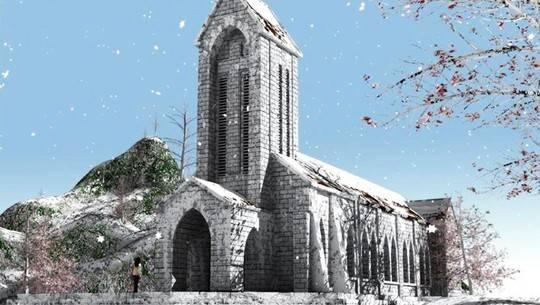 Nhà thờ cổ Sapa.