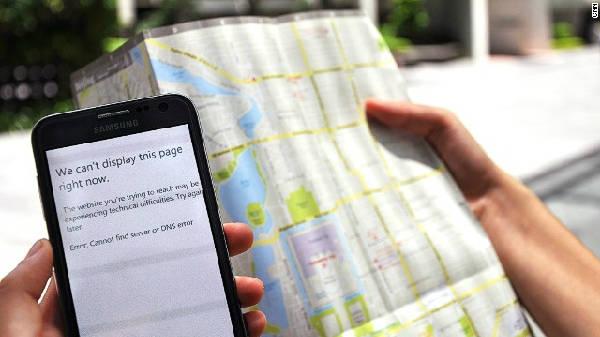 Có thể bạn phải đối phó với việc không tìm được địa chỉ từ internet khi cần.