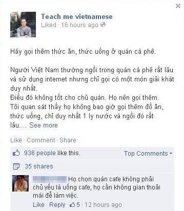 Trai Nhật và văn hóa uống cafe của Việt Nam