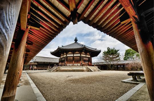 Một góc chùa Horyuji