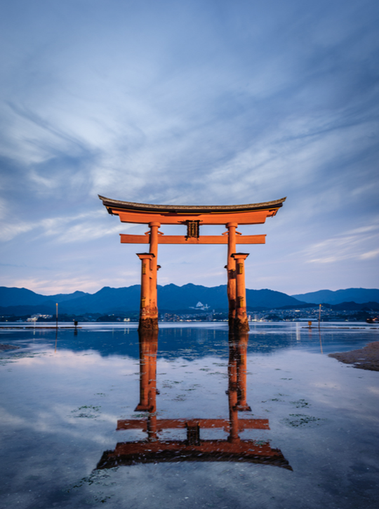 Cổng torii ở Miyajima