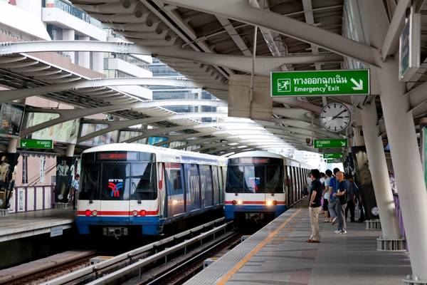 Trạm Skytrain BTS ở Bangkok