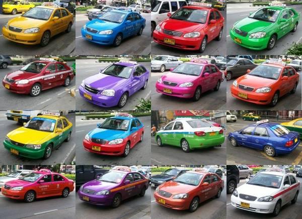 1001 loại taxi ở Bangkok