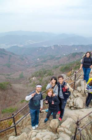 Trên đỉnh núi Dobongsan