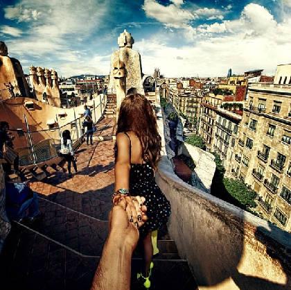 """""""Follow me to"""" Casa Mila, Barcelona, Tây Ban Nha, lên Instagram của Osmann vào ngày 17/10/2013."""