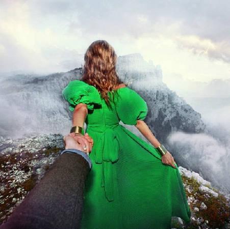 """""""Follow me to"""" đỉnh núi được post lên Instagram của Osmann vào ngày 26/12/2013."""