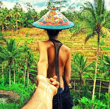 """""""Follow me to"""" ruộng bậc thang, Bali, Indonesia đăng Instagram của Osmann vào ngày 24/1/2013."""