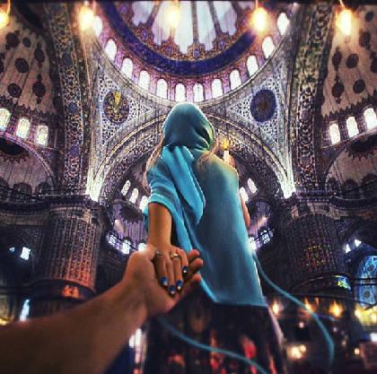 """""""Follow me to"""" Thánh đường Màu Xanh, Istanbul, Thổ Nhĩ Kỳ, đăng trên Instagram của Osmann vào ngày 22/10/2013."""