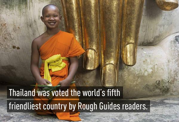Thái Lan là quốc gia thân thiện đứng thứ 5 trên thế giới do độc giả Rough Guides (Anh) bình chọn.