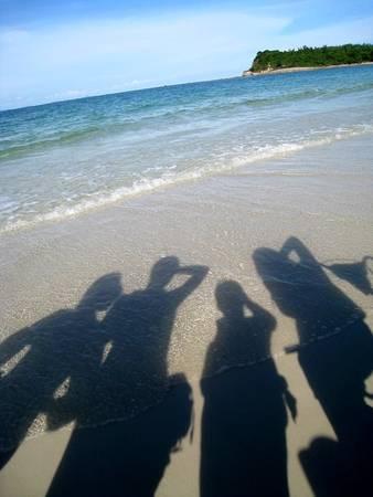 Bãi biển Quan Lạn một ngày đầy nắng.
