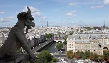 Nhìn xuống thành phố từ mái của nhà thờ Đức Bà Paris