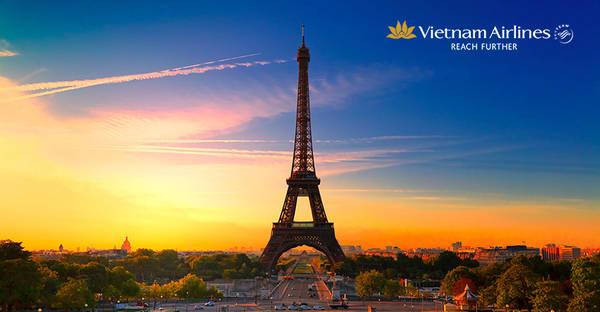 Vietnam Airlines giảm giá đặc biệt đi châu Âu