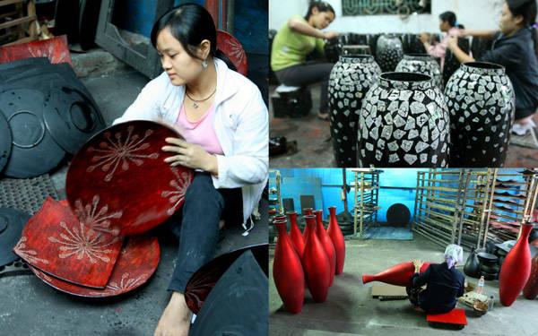 Làng sơn mài Hạ Thái