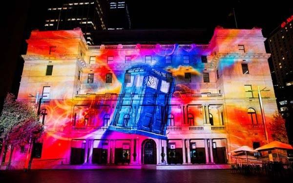 Brilliant light festival in Sydney
