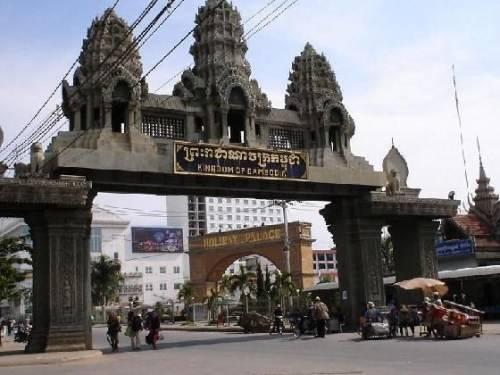 Cửa khẩu Aranyapathet nằm giữa biên giới Thái Lan và Campuchia. Ảnh: chinhphu