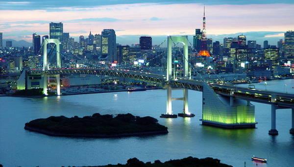 Thành phố Tokyo nhìn từ khu phố Odaiba