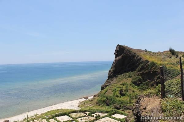 Biển xanh ngắt nhìn từ trên cao