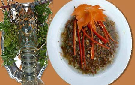 Bạn đã nếm thử món tiết canh tôm hùm Long Hải chưa?