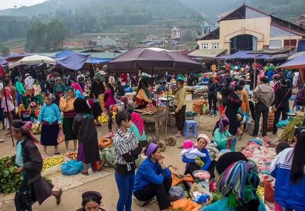 Toàn cảnh khu chợ