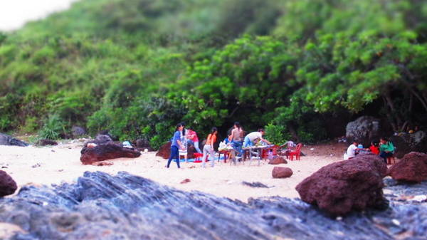 Một không gian riêng nơi bãi Rạng - Ảnh: Hương Cát