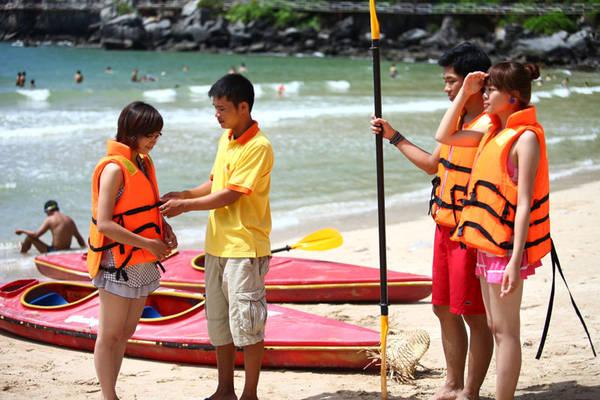 Chèo thuyền Kayak là môn thể thao thử thách lòng can đảm.
