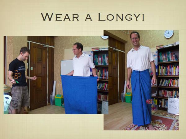Du lich Myanmar - Trang phục truyền thống Longyi