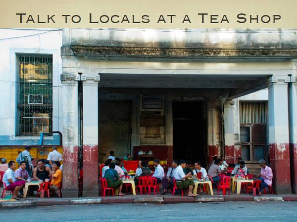 Du lich Myanmar - Thưởng thức trà ở Yangon