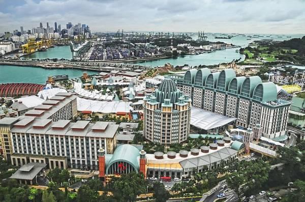 Điểm nhấn ở Resorts World Sentosa là công viên điện ảnh Universal Studios Singapore