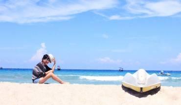 Bãi Dài Nha Trang với bãi cát dài và mịn màng đến không ngờ.
